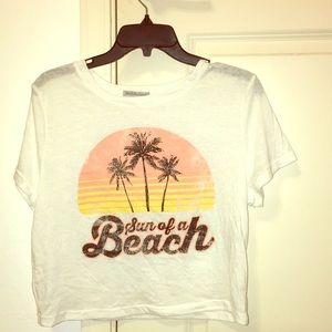 """""""Sun of a Beach"""" crop top"""